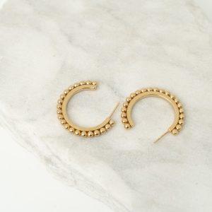 Nina Large Gold Hoops