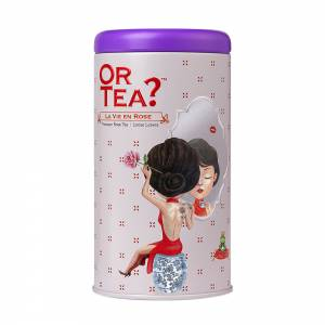 Or Tea? La Vie en Rose Glossy Tin Canister