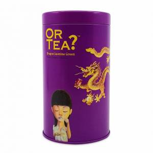 Or Tea? Dragon Jasmine Green Glossy Tin Canister